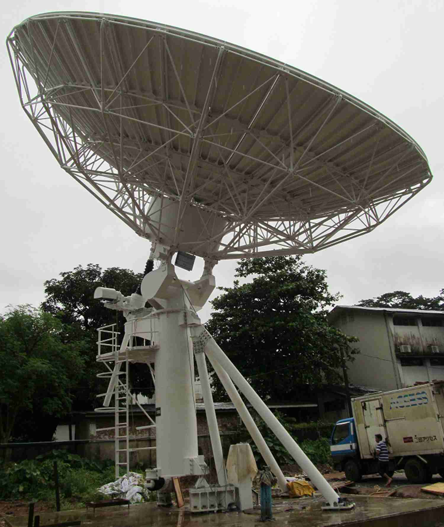 11.3M big satellite dish antenna