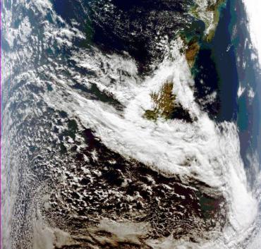FY-3C Medium resolution Spectral Imager cloud image