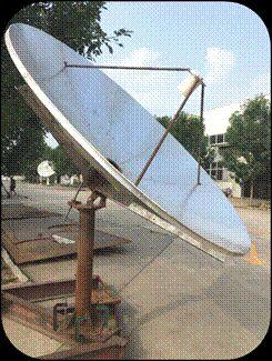 2.4m L-Band dish antenna and LNA